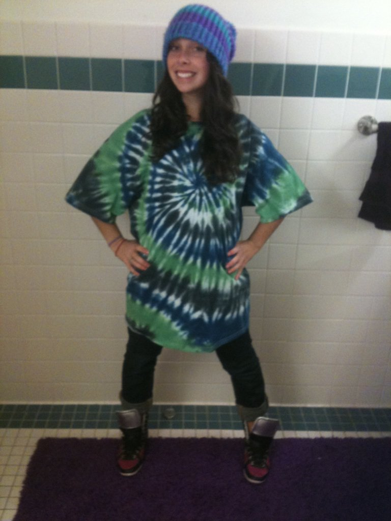 First  made tye-dyed tall t of the season