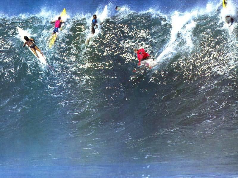 Skiing the Big Wave