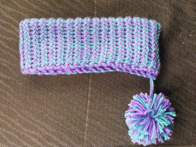 Reversible Pom Headband.. side 1