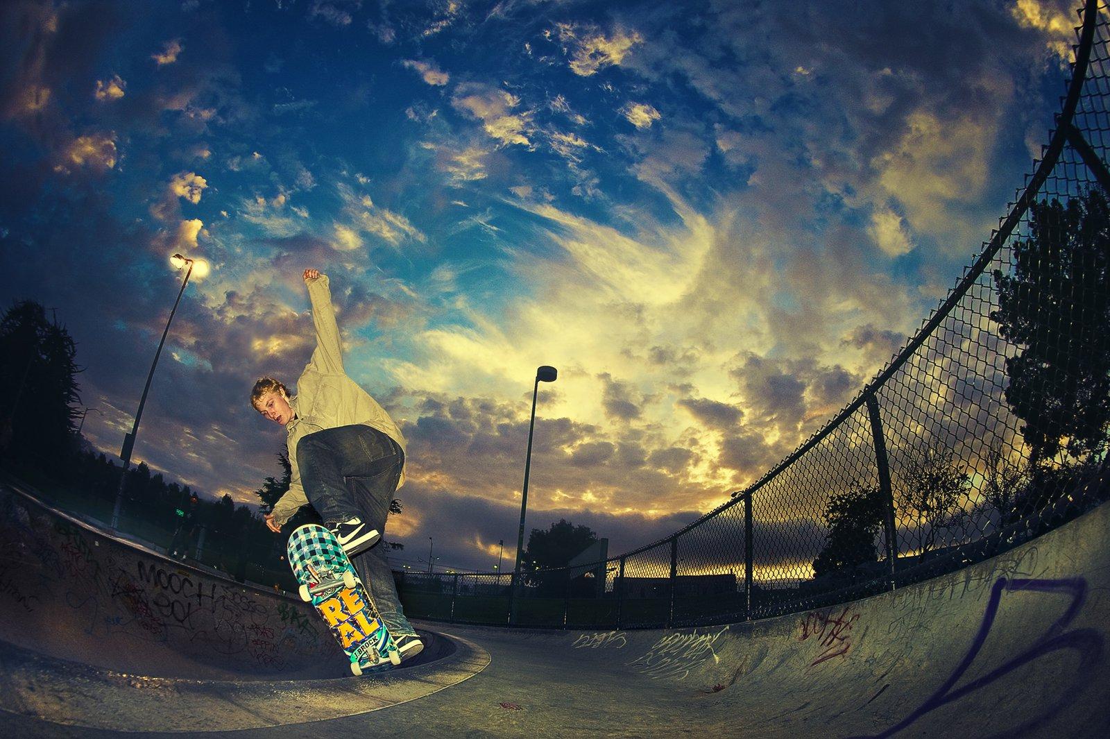 Skate dawn shot
