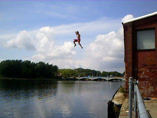 Urban cliff jumping