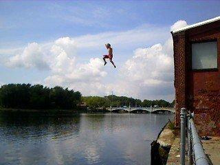 Urban cliff jumping