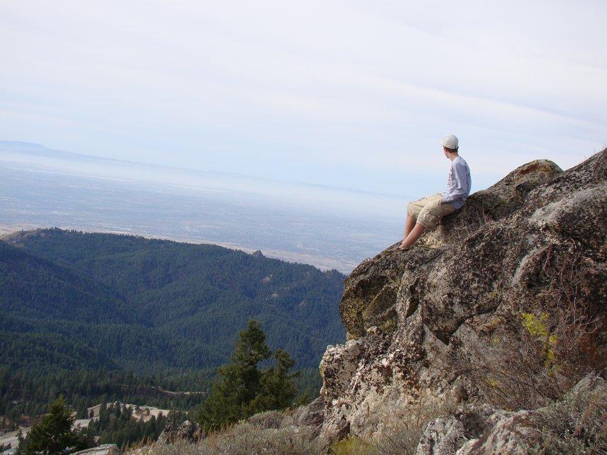 Kickin it on top of Boise