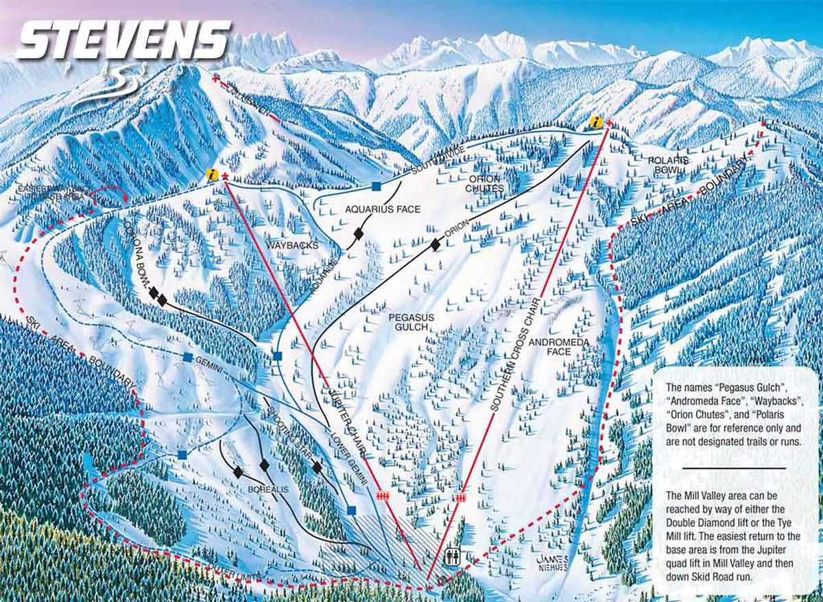 Map of Stevens Pass