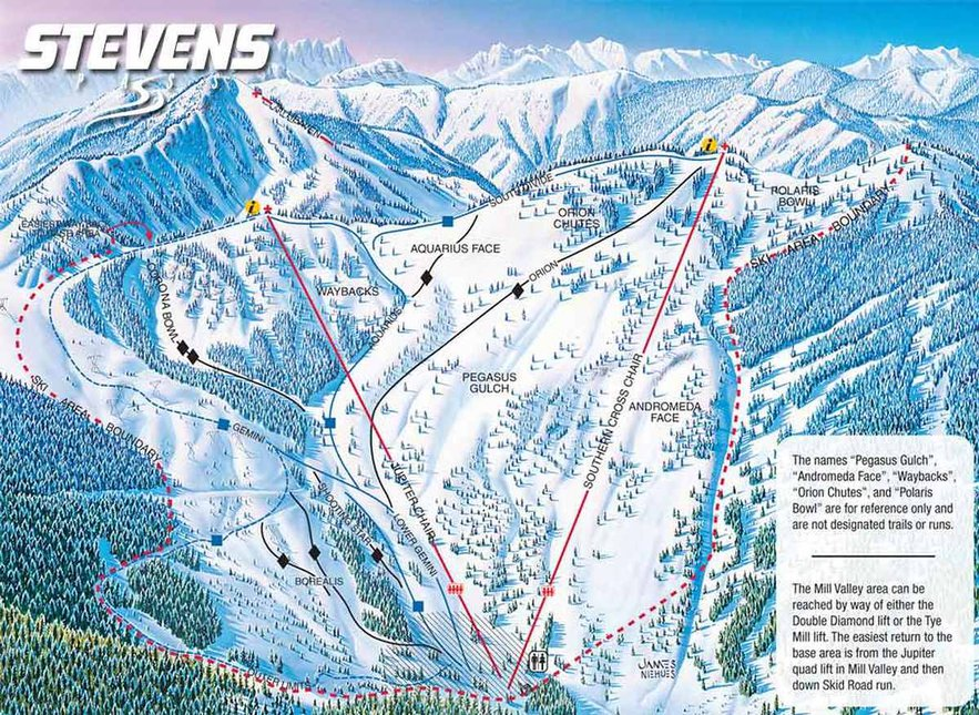Map of Stevens Pass