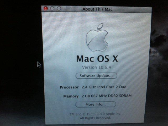 Macbook pro 2.4ghz