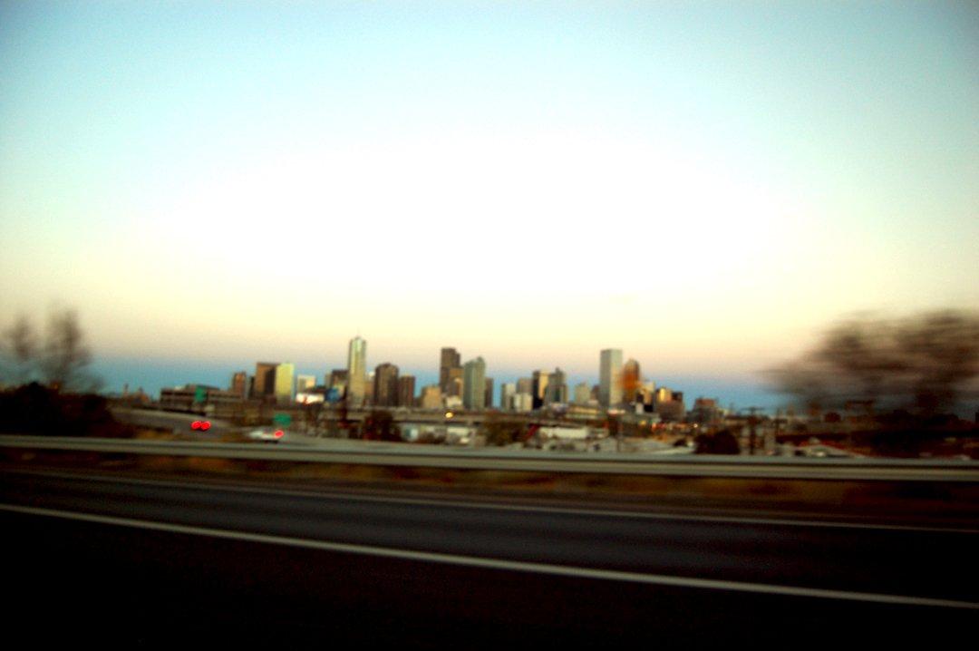 Denver from a car