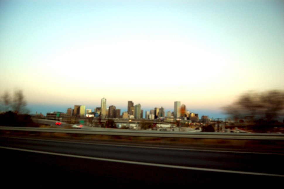 Denver from a car
