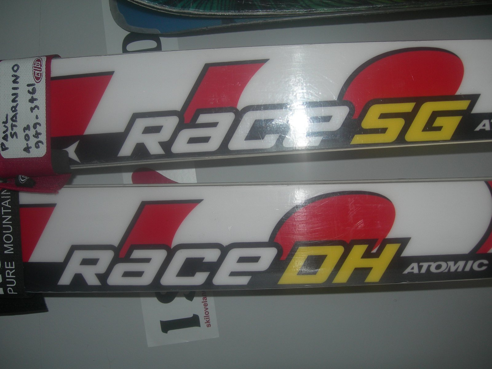 Skis close-up