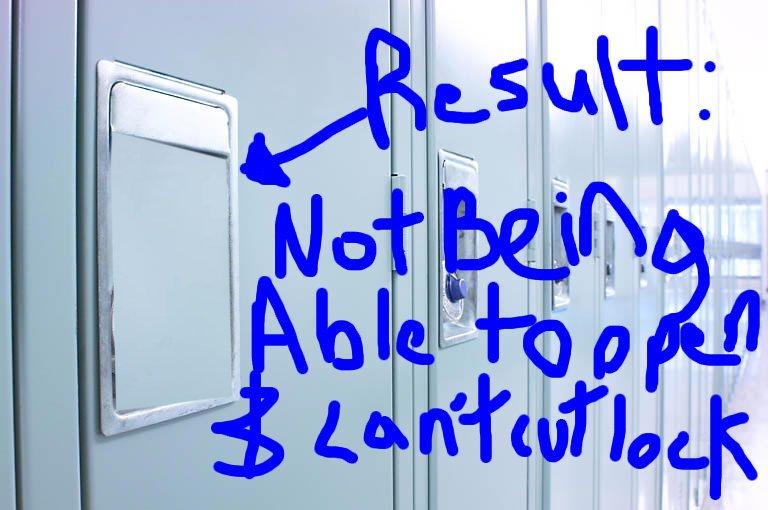 Locker prank result