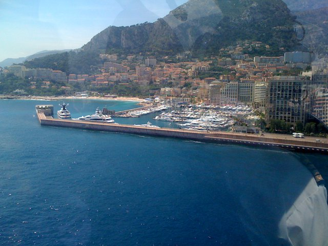 Flying into Monaco by helicopter!