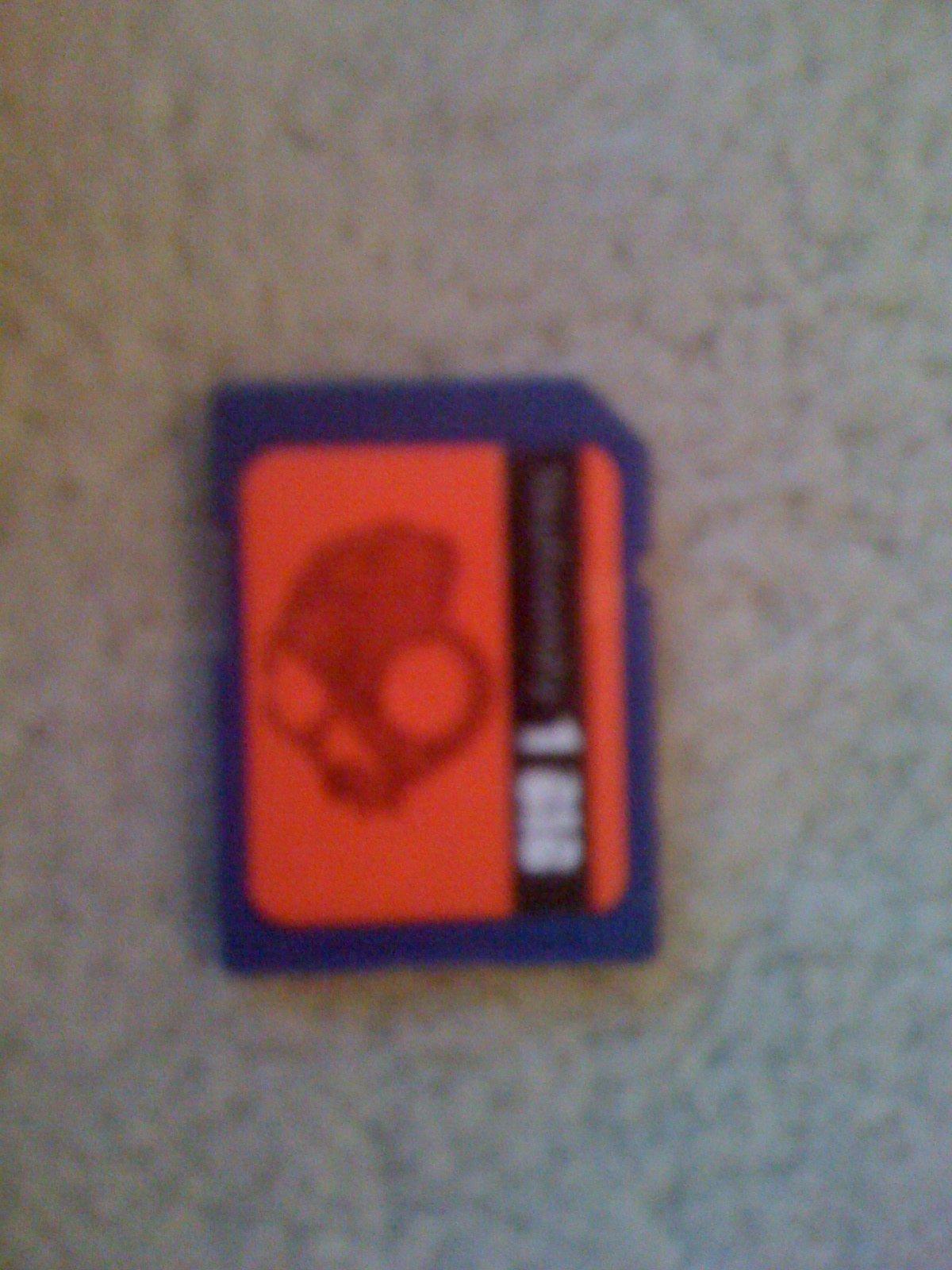 Headphone sd card