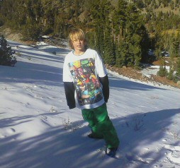 First skiing on snow of  the season