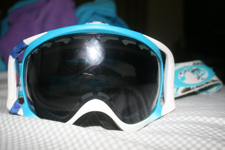 Blue whit crowbard with polarized lens (tie dye tape on side will take off upon sale)