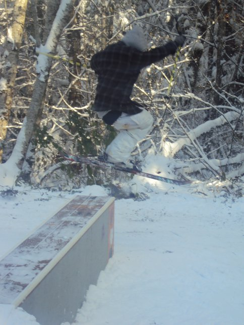 Backyard skiing