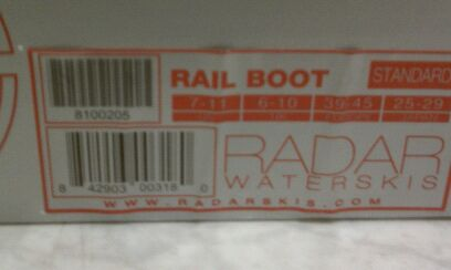 Radar Rail Boot