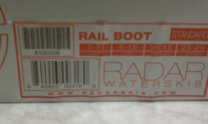Radar Rail Boot