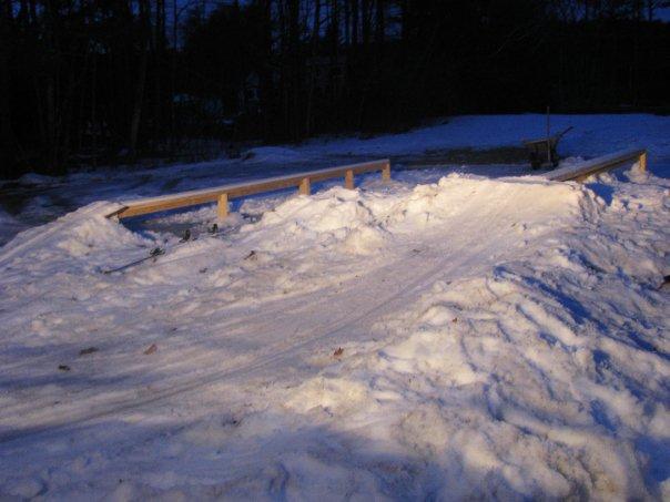 09-10 Backyard Ski setup