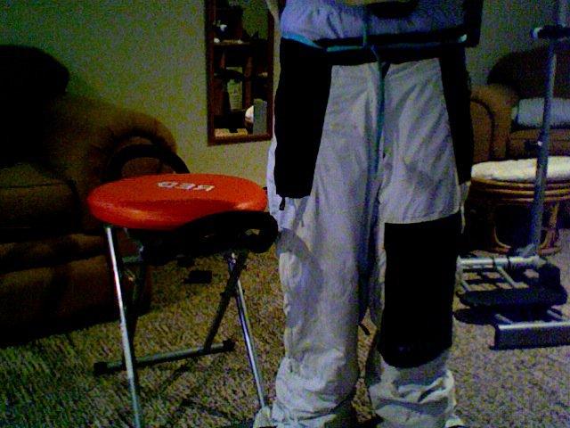 Me wearing pants