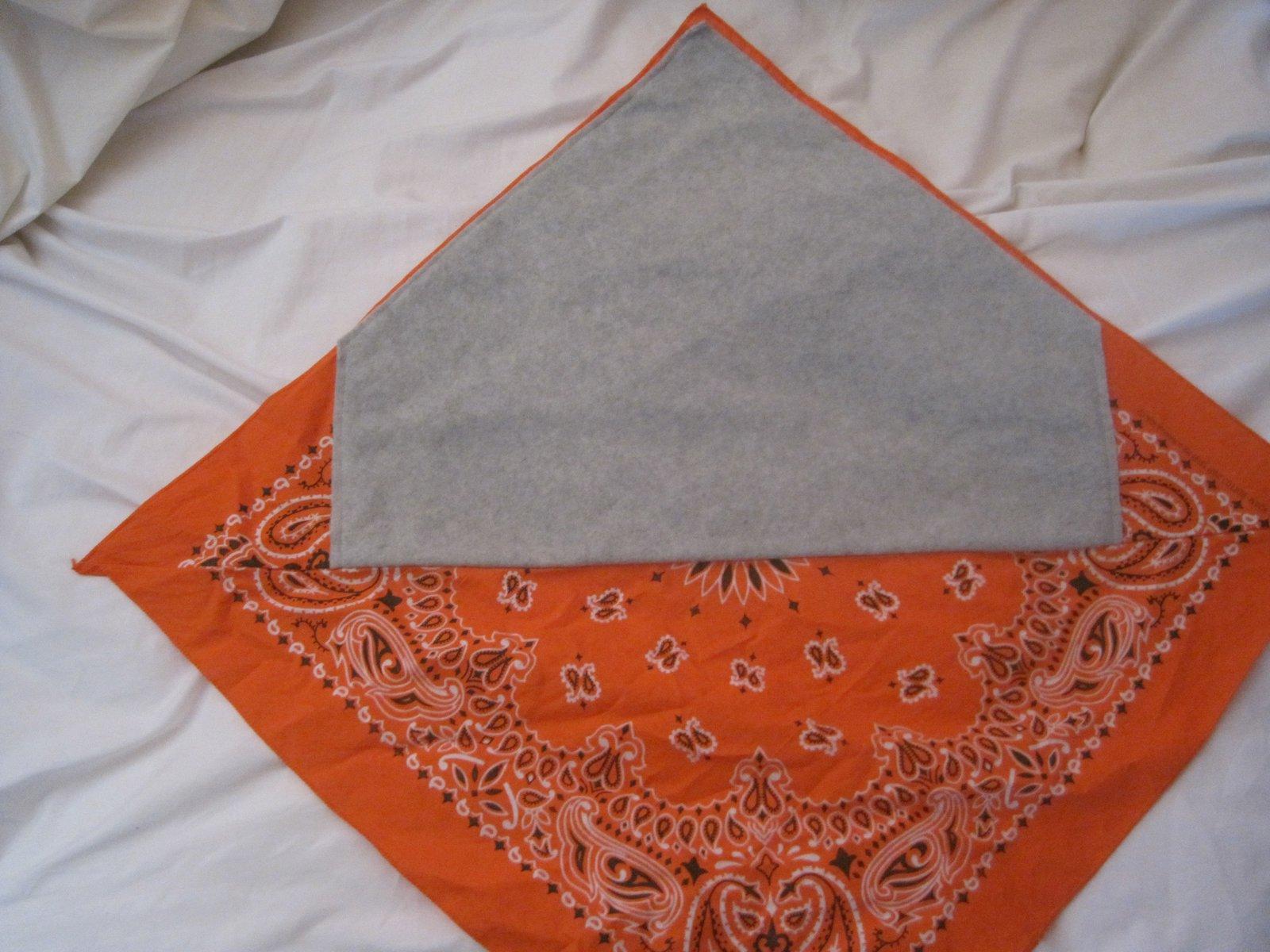 Orange Bandana Fleece lined