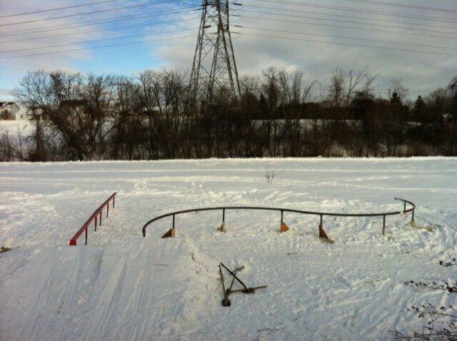 S-rail and flatbar backyard setup