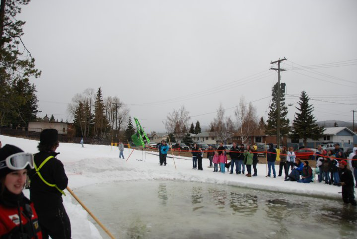 Back flip into the slush cup