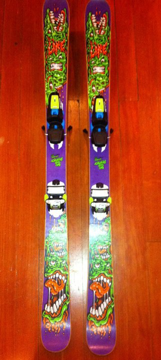 Afterbang shortys 144 cm with marker bindings