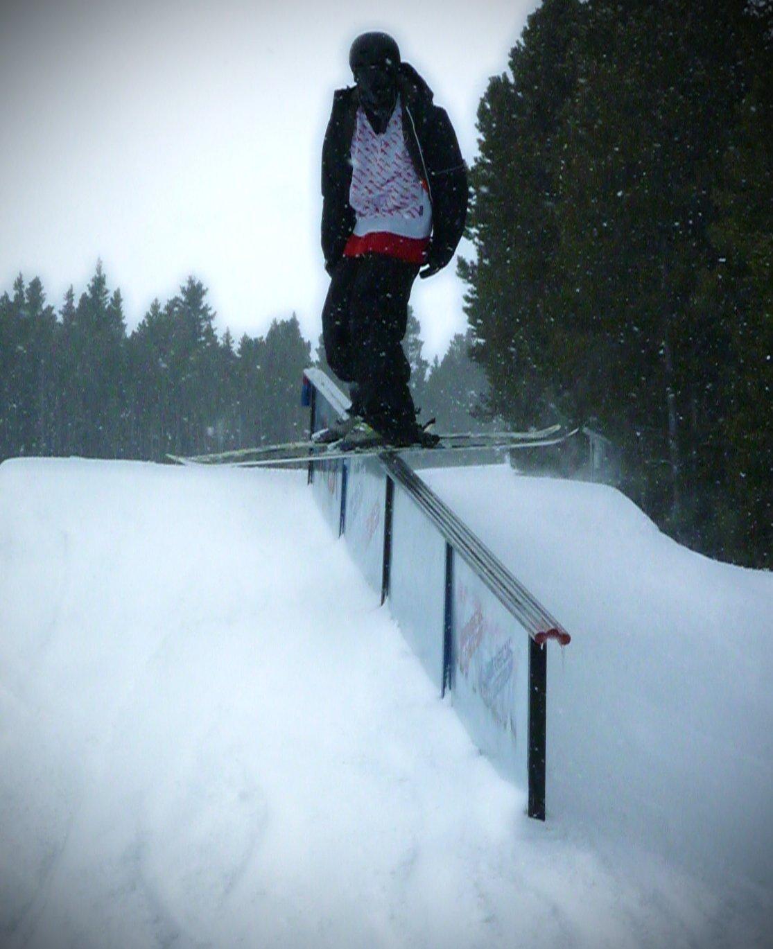 Down rail at Breck
