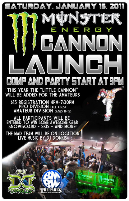 Monster Cannon Launch BMBW Poster