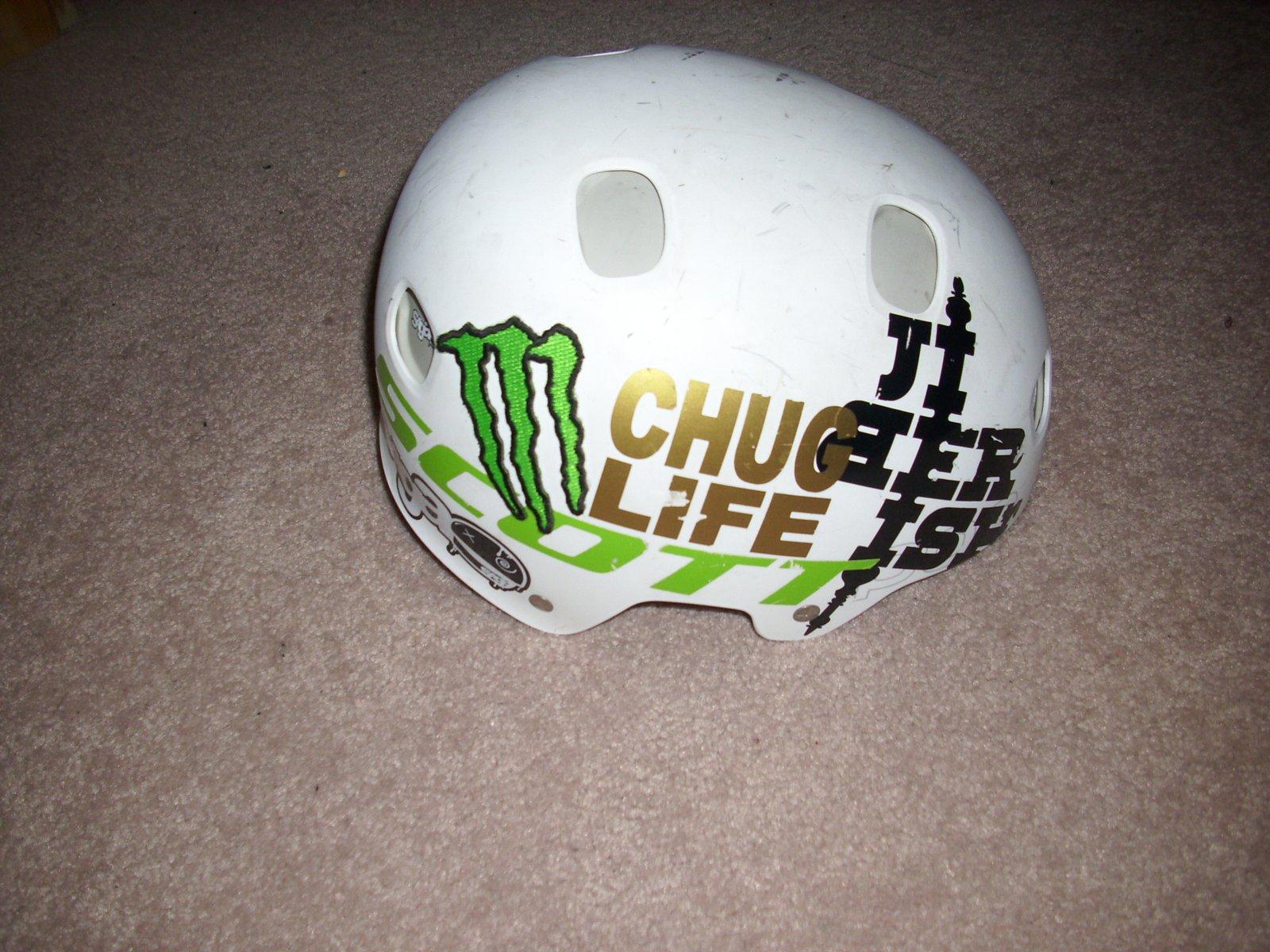 Chug helmet side 1
