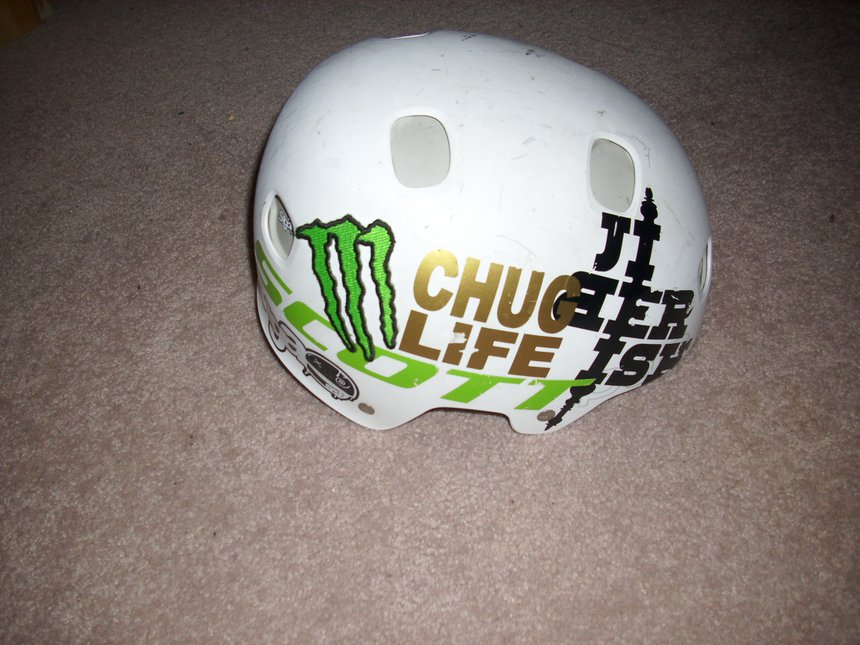 Chug helmet side 1