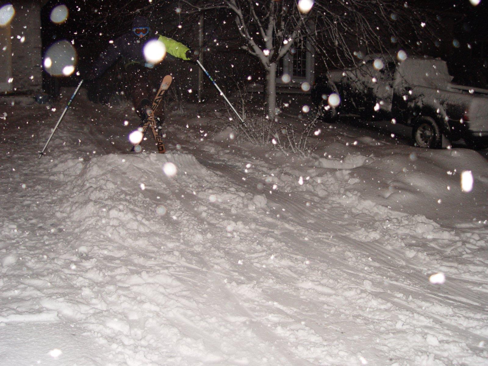 Front Yard Skiing