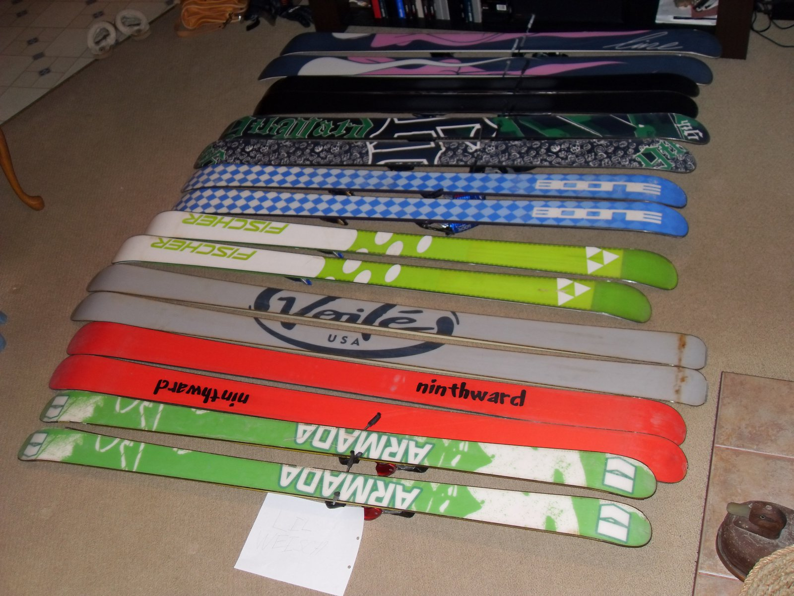 For sale skis bases