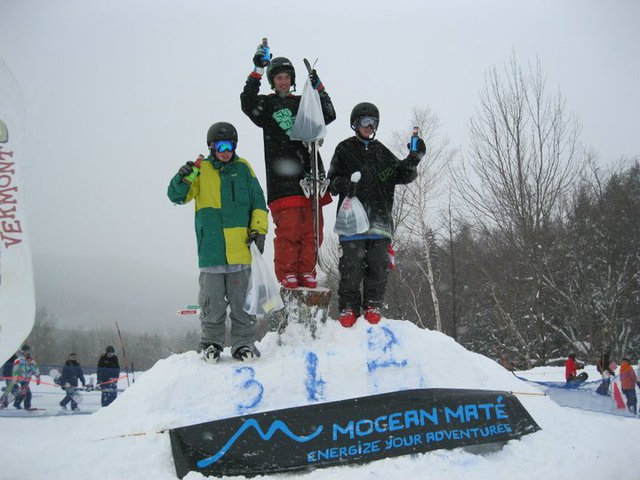 1st in the Smuggler's Notch Rail Jam 1/15/11