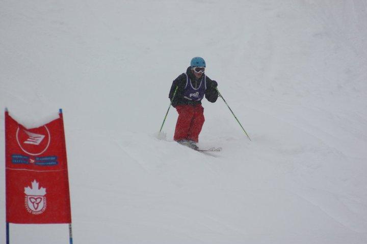 Skiing the moguls