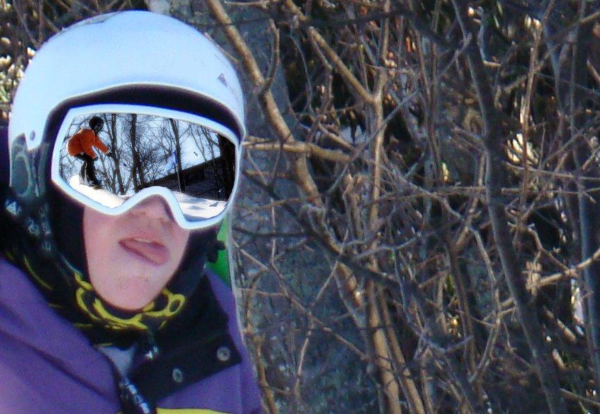 Attempt at goggle reflection