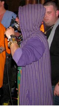 Voleurz purple pinstripe