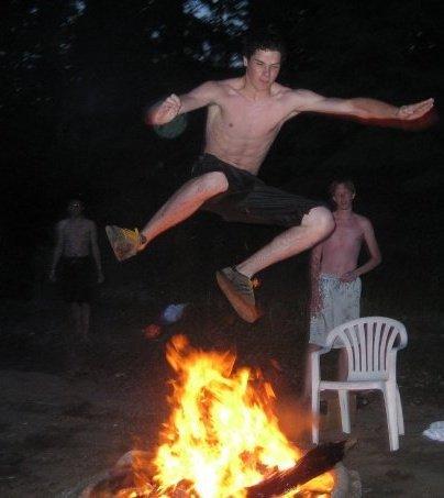 Fire jumping