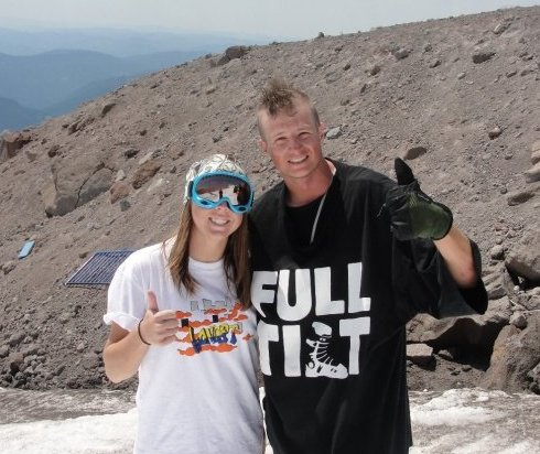 Andy Perry and me at Mt Hood