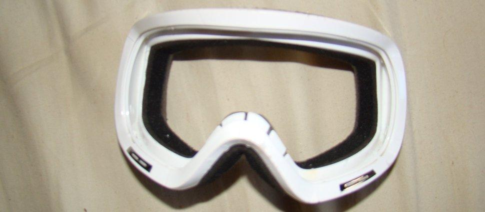 Goggles before dye