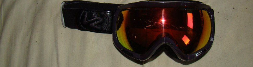 Goggles after dye