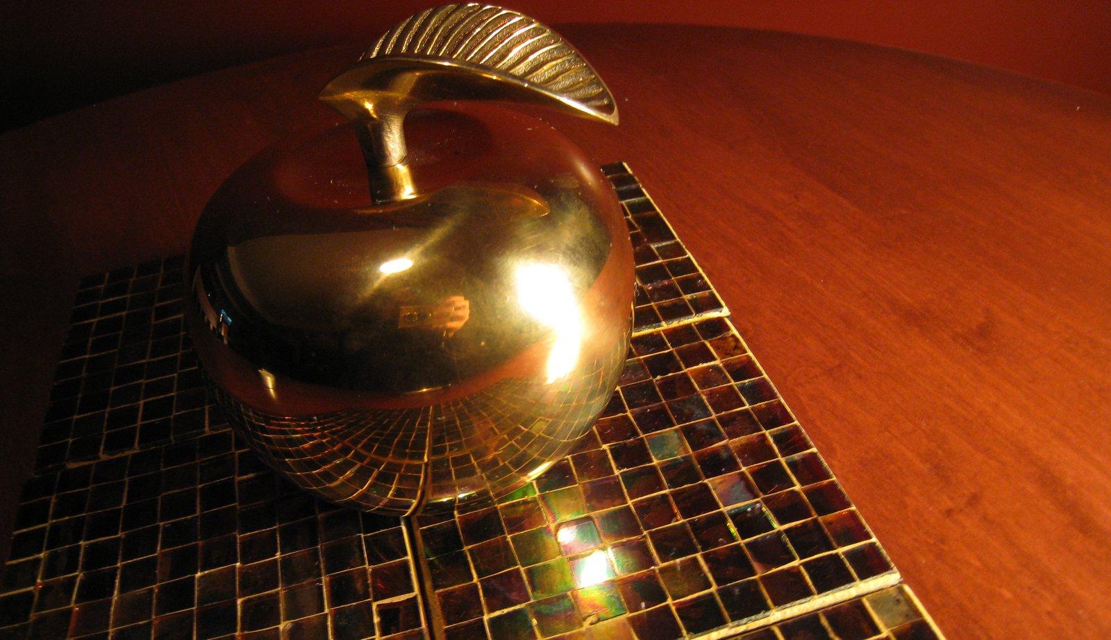 Brass ball.
