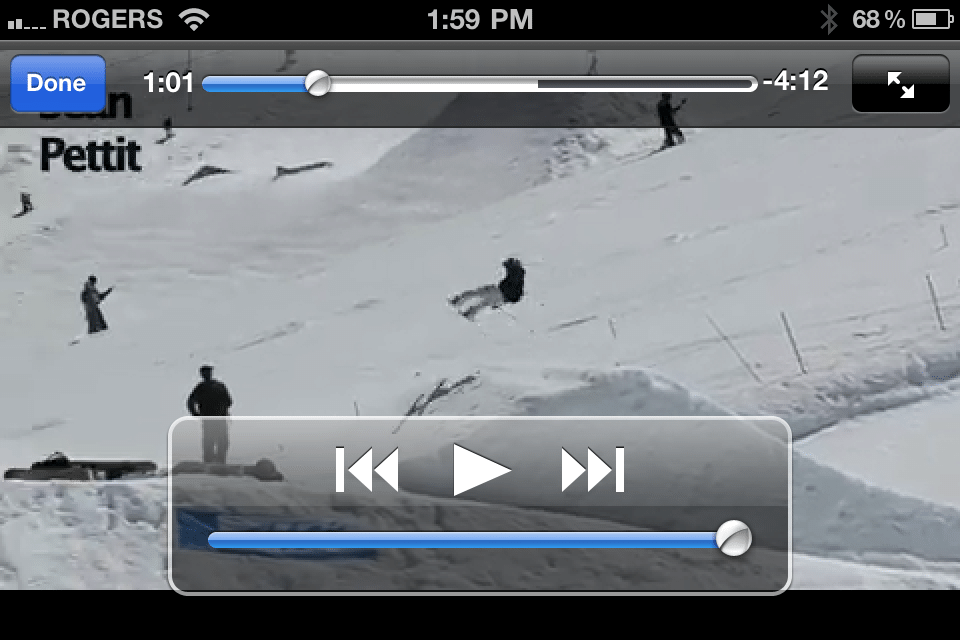 Video Grab from the Camp of Champions iPhone and Android App
