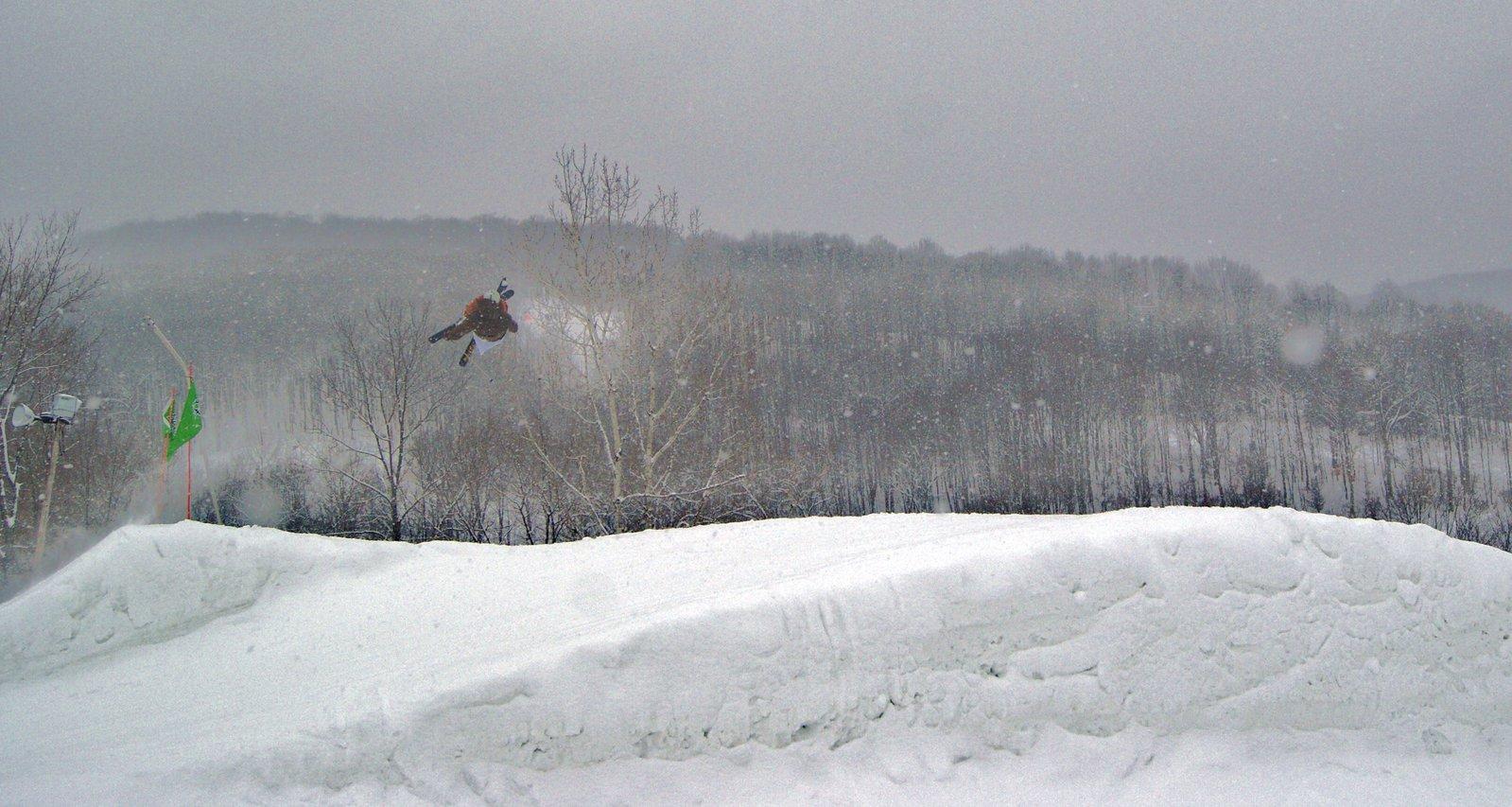 Cork 9 on a snowy day