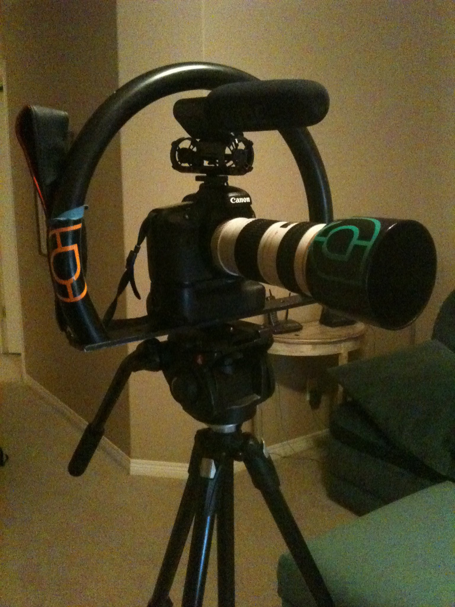 Cam rig for thread