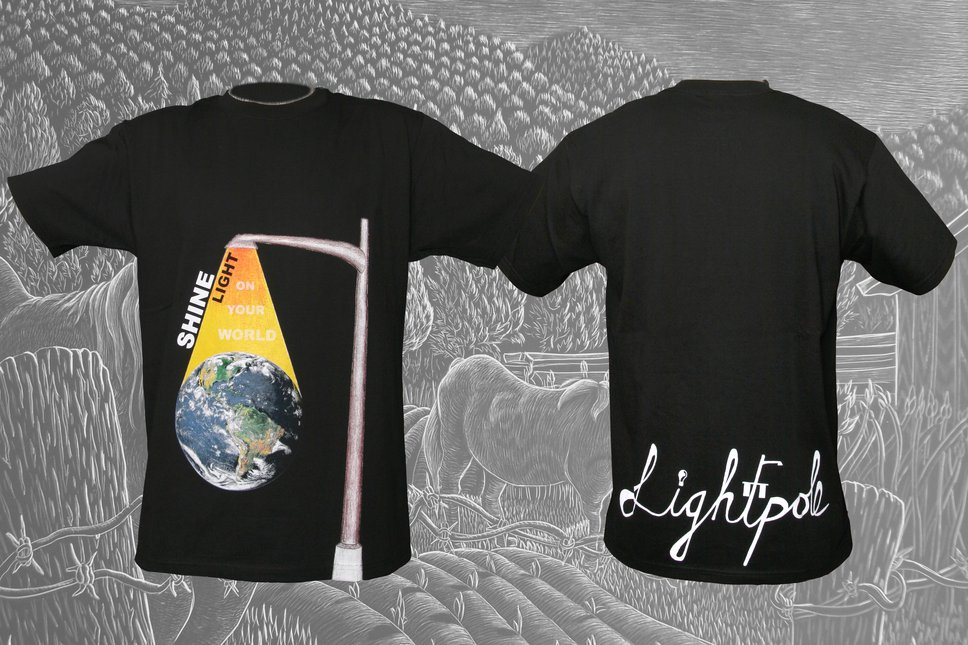 Shine Light Tshirt Black