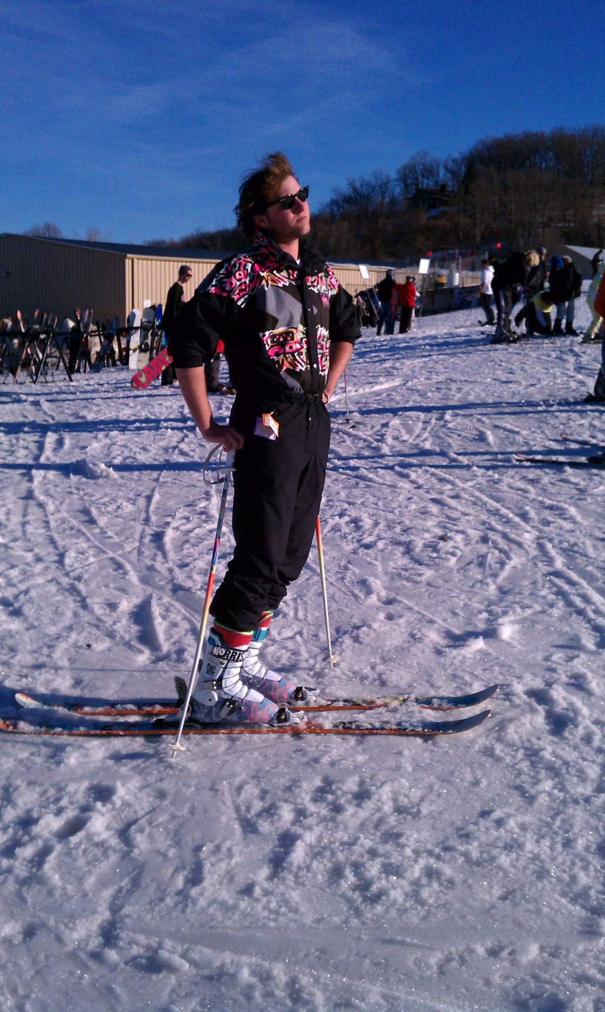 Epic shot of me in my gaper suit