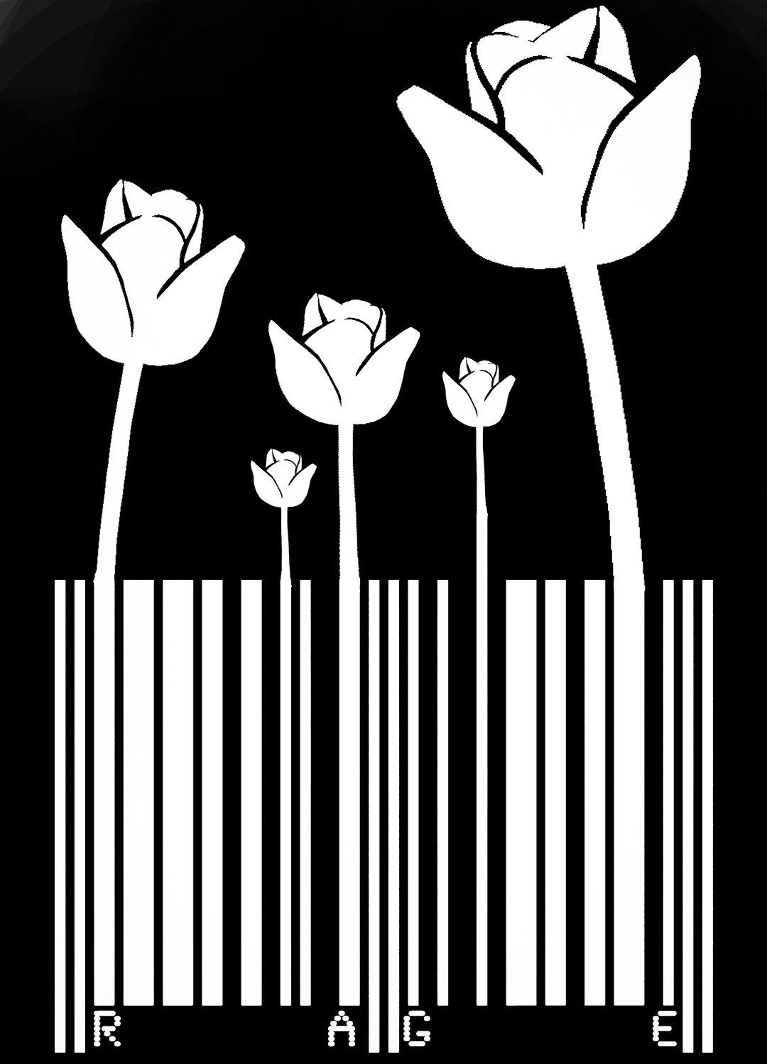 Barcode flower