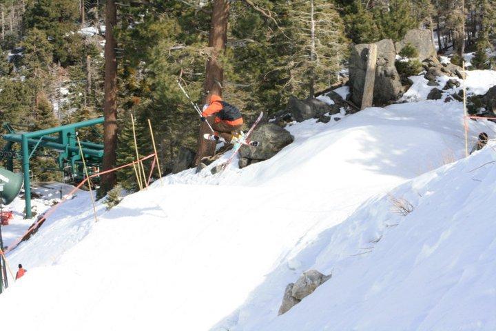 Skiing Bear Mtn
