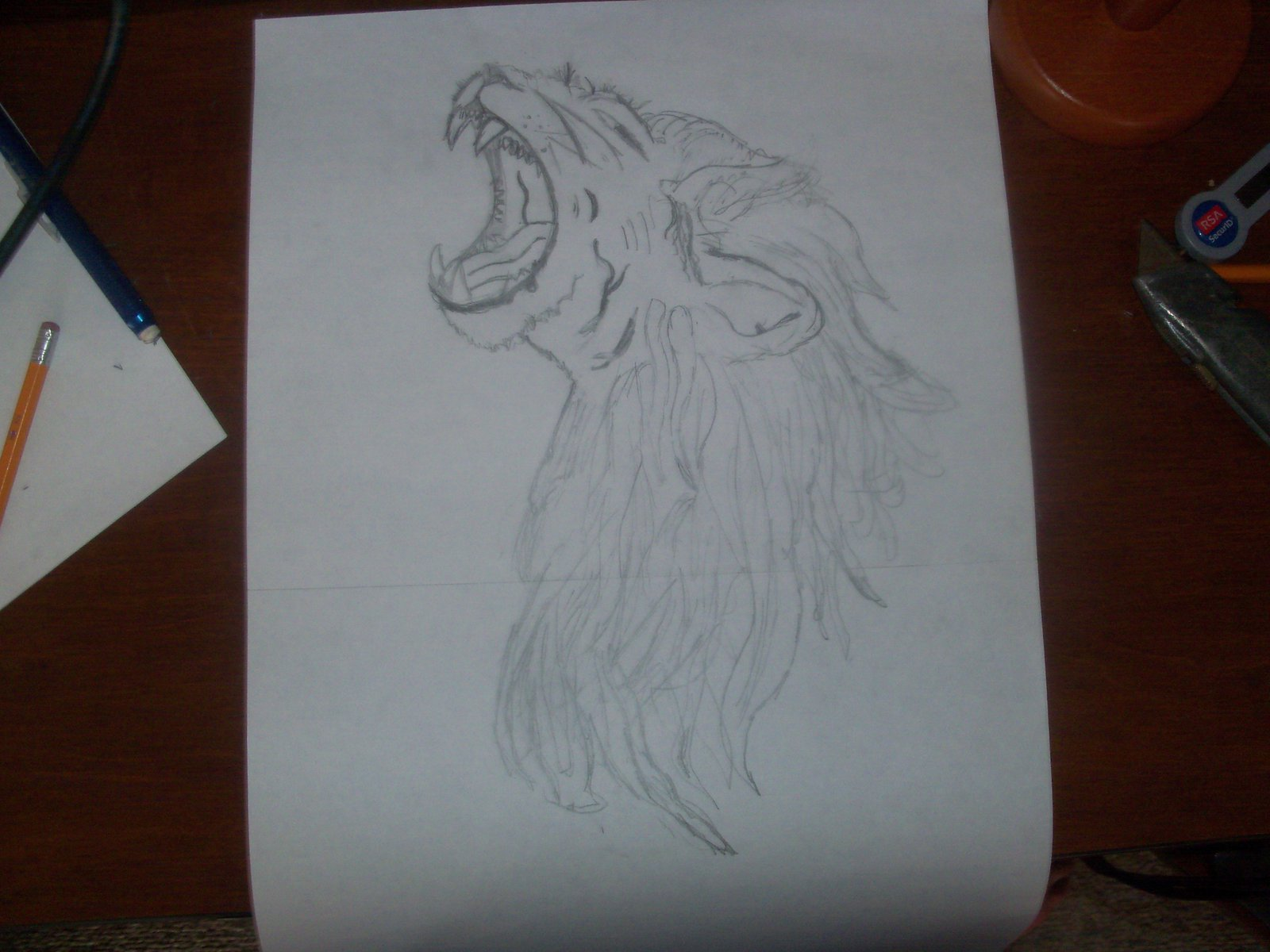 My lion head, complete